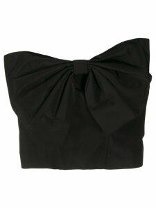 Essentiel Antwerp bow front bandeau top - Black