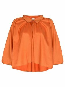 Totême Kerala collared pouf sleeve blouse - ORANGE