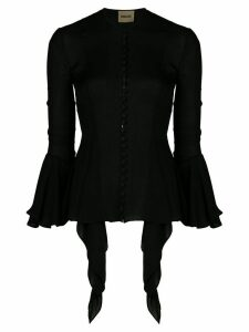 Khaite flared cuff button down blouse - Black