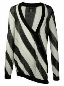 Ann Demeulemeester striped asymmetric cardigan - White