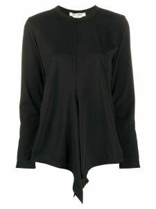 Comme Des Garçons drape design jumper - Black