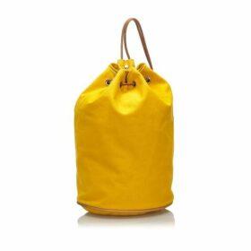 HERMÈS Yellow Canvas Polochon Mimile