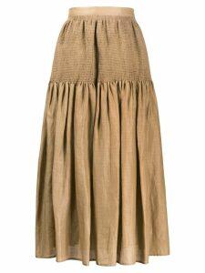 Joseph smocked panel midi skirt - Brown