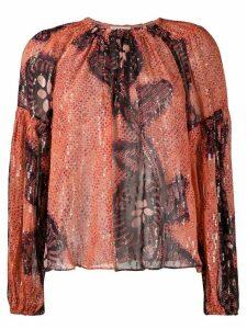 Ulla Johnson Sanaya long-sleeve blouse - PINK