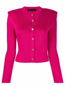 Versace cropped ribbed cardigan - PINK