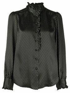 Marc Jacobs polka dot print silk blouse - Black