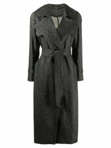 Tagliatore Carola belted trench coat - Grey