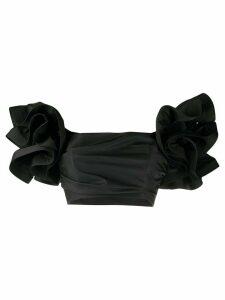 Elisabetta Franchi ruffled sleeve blouse - Black