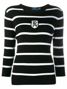 Polo Ralph Lauren striped logo T-shirt - Black