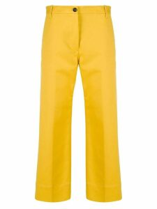 Nine In The Morning cropped straight leg trousers - Yellow
