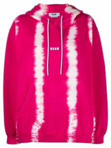 MSGM tie-dye cotton hoodie - PINK