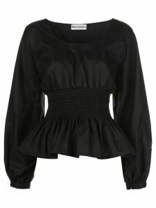 Molly Goddard u-neck shirt - Black