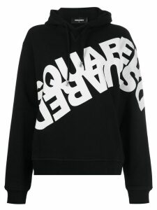 Dsquared2 mirrored logo print hoodie - Black
