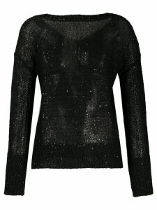 Snobby Sheep sequin embellished jumper - Black