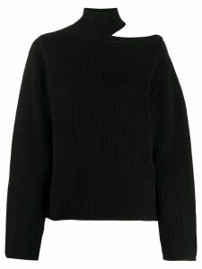 RtA cut-detail turtle neck jumper - Black
