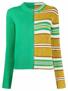 Mm6 Maison Margiela knitted striped cardigan - Green