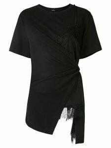 Goen.J knot-detail wrap top - Black