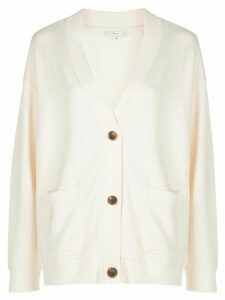 Vince V-neck double pocket cardigan - Yellow