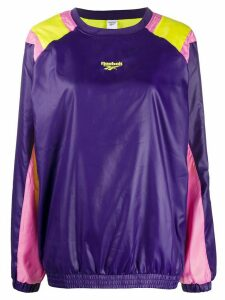 Reebok colour blocked sweatshirt - PURPLE