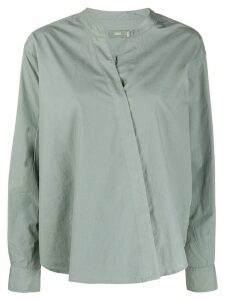 Closed wrap front shirt - Grey