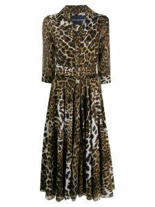Samantha Sung Aster leopard print dress - Brown
