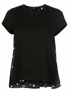 Sacai polka dot T-shirt - Black
