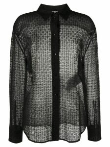 Jil Sander sheer lace shirt - Black