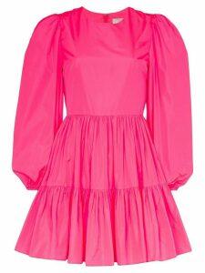 Valentino tiered taffeta mini dress - PINK