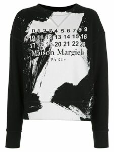 Maison Margiela paint-effect sweatshirt - Black