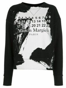 Maison Margiela paint-effect sweatshirt - Black