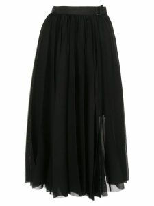 Sacai pleated mid skirt - Black