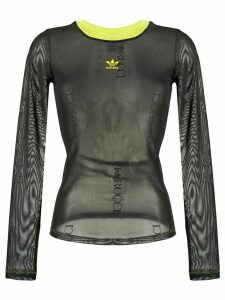 adidas sheer long-sleeve top - Black