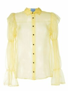 Macgraw Souffle sheer blouse - Yellow