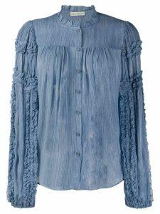 Ulla Johnson silk long-sleeve frill blouse - Blue