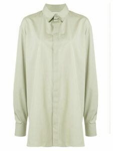 Rochas long-line shirt - Green