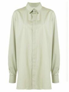Rochas long-line shirt - Green