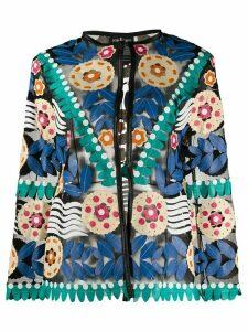 Caban Romantic graphic print jacket - Black