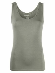 Majestic Filatures plain fitted tank top - Green