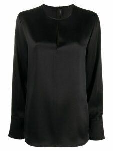 Joseph cut-out silk blouse - Black
