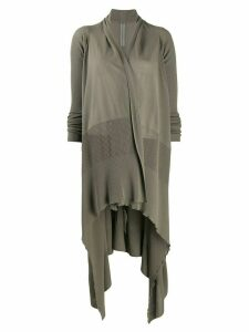 Rick Owens long sleeve draped cardigan - Brown