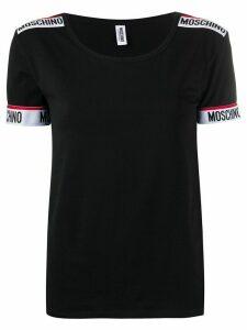 Moschino branded tape T-shirt - Black