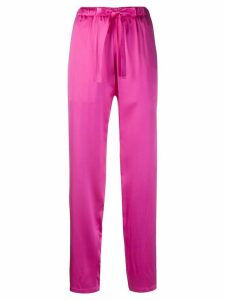 Undercover drawstring-waist silk trousers - PINK