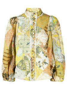 Zimmermann graphic print shirt - NEUTRALS