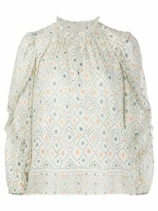 Ulla Johnson Manet geometric blouse - NEUTRALS