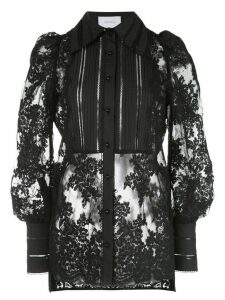 Marchesa lace long sleeve blouse - Black