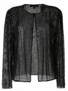 Jenny Packham woven knit cardigan - Black