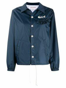 Comme Des Garçons Girl ruffle-trimmed shirt jacket - Blue