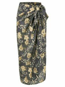 Sir. Lita floral sarong skirt - Black