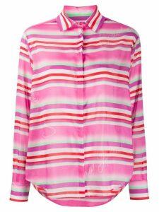 Giada Benincasa striped logo-print shirt - PINK