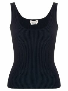 Alexander McQueen ribbed vest top - Blue